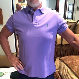 Polo Ralph Lauren Lavender Polo Custom Fit Size L